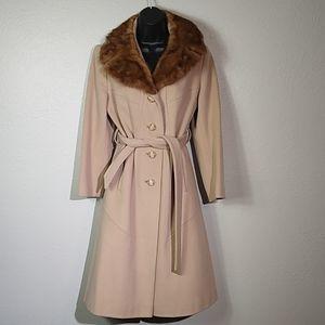 Vintage Julie De Roma Wool Belted Trench Coat Sm